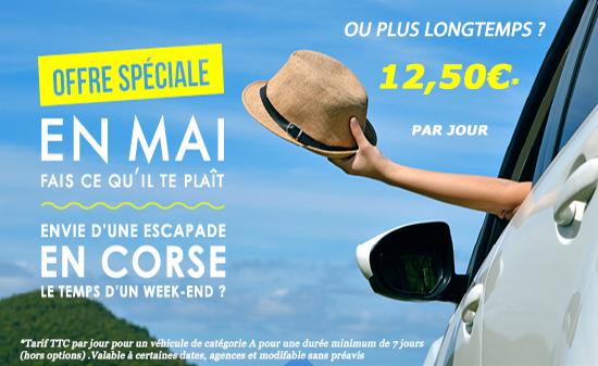Offre location de voiture dès 12,50€ par jour